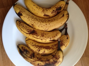 Brown bananas are perfect for cakes, smoothies and making banana ice cream!
